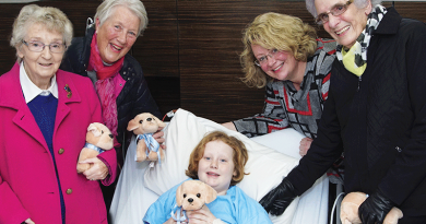 Cuddly donations ease the way for young patients