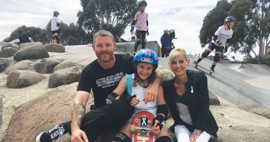 Girls carve up Hobart skate park for worthy cause