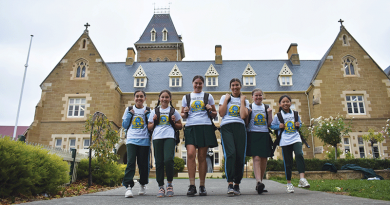Students hit the pavement to walk the talk